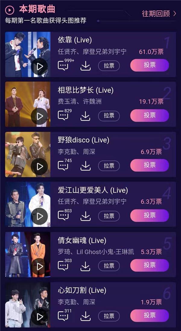 《我们的歌》刘宇宁任贤齐《依靠》上线酷狗音乐